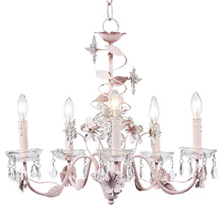 Jubilee Crystal Flower Pink Chandelier