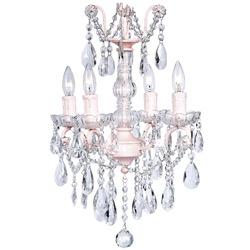 Jubilee Crystal Glass 4 Light Chandelier