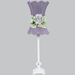 Jubilee Lavender Hourglass Rose Lamp