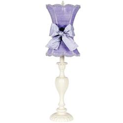 Jubilee Lavender Scallop Hourglass Lamp