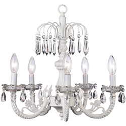 Jubilee Waterfall White Chandelier