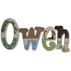 Owen's Jungle Wall Letters