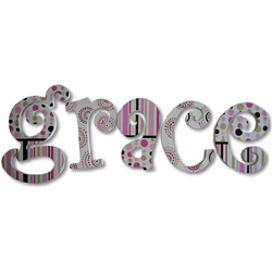 Grace's Stripes and Dots Wall Letters