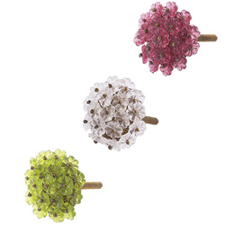 Beaded Flower Knob