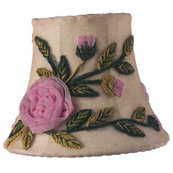 Jubilee Set of 3 Ivory Rose Net Flower Shades
