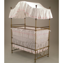Scroll Splendor Iron Canopy Crib