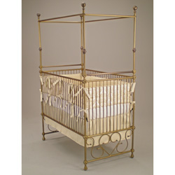 Juvenile Heirlooms Treasures Iron Canopy Crib