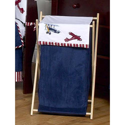 Vintage Airplane Laundry Hamper