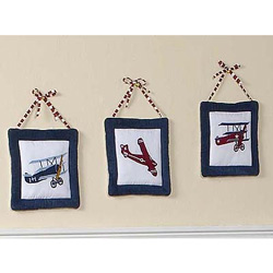 Vintage Airplane Wall Hangings