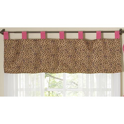 Cheetah Pink Window Valance