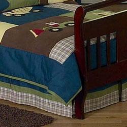 Construction Toddler Bed Skirt