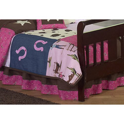 Cowgirl Toddler Bed Skirt