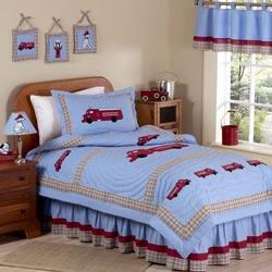 Firetruck Twin Bedding Set