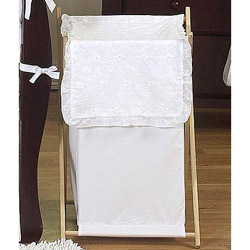 White Eyelet Laundry Hamper