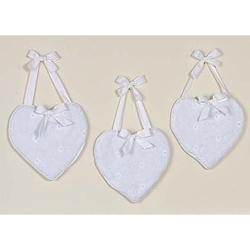 White Eyelet Wall Hangings