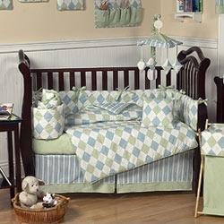 Argyle Crib Bedding Set