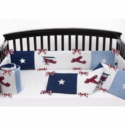 Vintage Airplane Crib Bumper