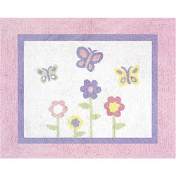 Butterfly Pink and Purple Accent Rug