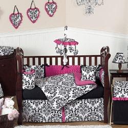 Isabella Damask Crib Bedding Set