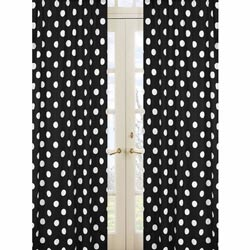 Hot Dot Polka Window Panels