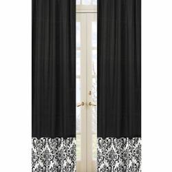 Isabella Damask Black Window Panels