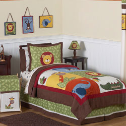 Jungle Time Twin/Full Bedding Set