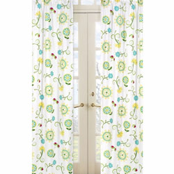 Layla Floral Window Panels
