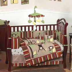 Monkey Crib Bedding Set