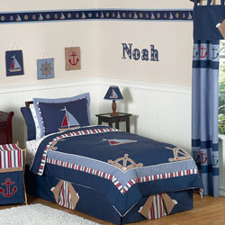 Nautical Nights Twin/Full Bedding Set