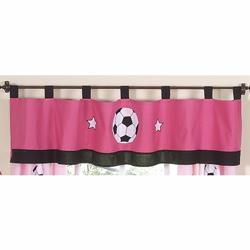 Soccer Pink Window Valance