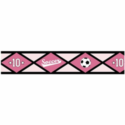Soccer Pink Wallpaper Border
