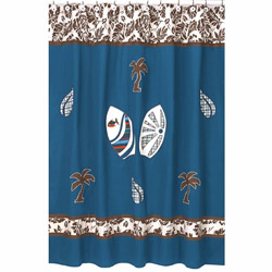 Surf Blue Shower Curtain