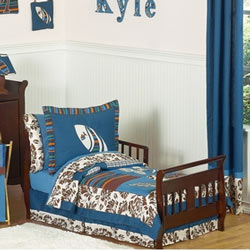 Surf Blue Toddler Bedding Set