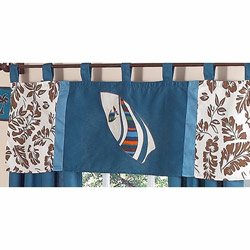 Surf Blue Window Valance