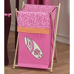 Surf Pink Laundry Hamper