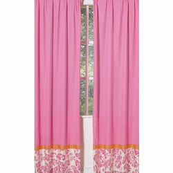 Surf Pink Window Panels