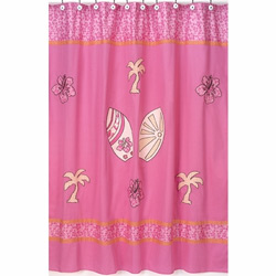 Surf Pink Shower Curtain