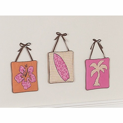 Surf Pink Wall Hangings