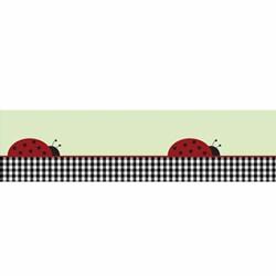 Ladybug Parade Wallpaper Border