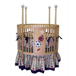 Junior Sports Round Baby Crib