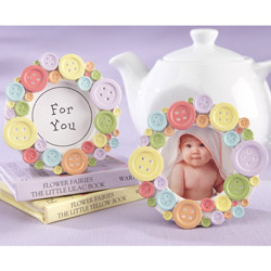 Kate Aspen Cute as a Button Photo Frame (Set of 12)