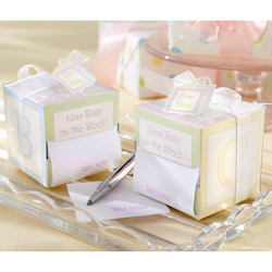 "Kate Aspen Take Note! New Baby On the Block!"" Sticky Notes (Set of 12)"