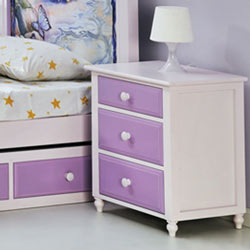 Megan Triple Drawer Nightstand