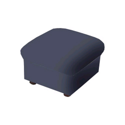 Faux Leather Kids' Ottoman