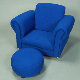 Kid's Upholstered Rocker with Ottoman