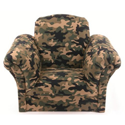 Camouflage Upholstered Kids Chair