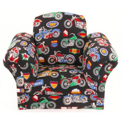 Motorcycles Upholstered Kids Chair
