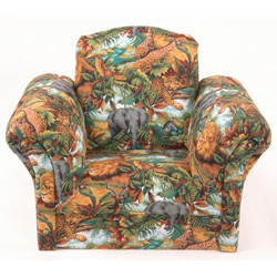 Safari Animals Upholstered Kids Chair