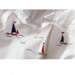 Sailing Away Fitted Crib Sheet