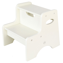 White Two Step Stool